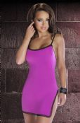 'Avanua Lingerie' Lulu Pink Clubwear Dress with Side Split ( UK Sizes 8 - 20 )
